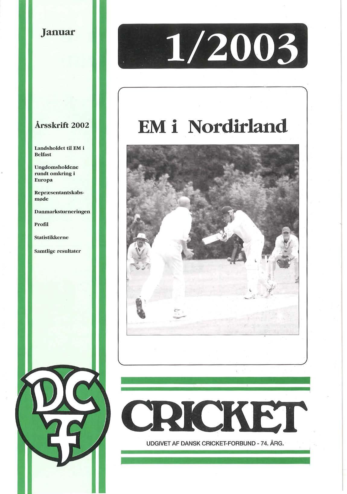 Dansk Cricket 2003