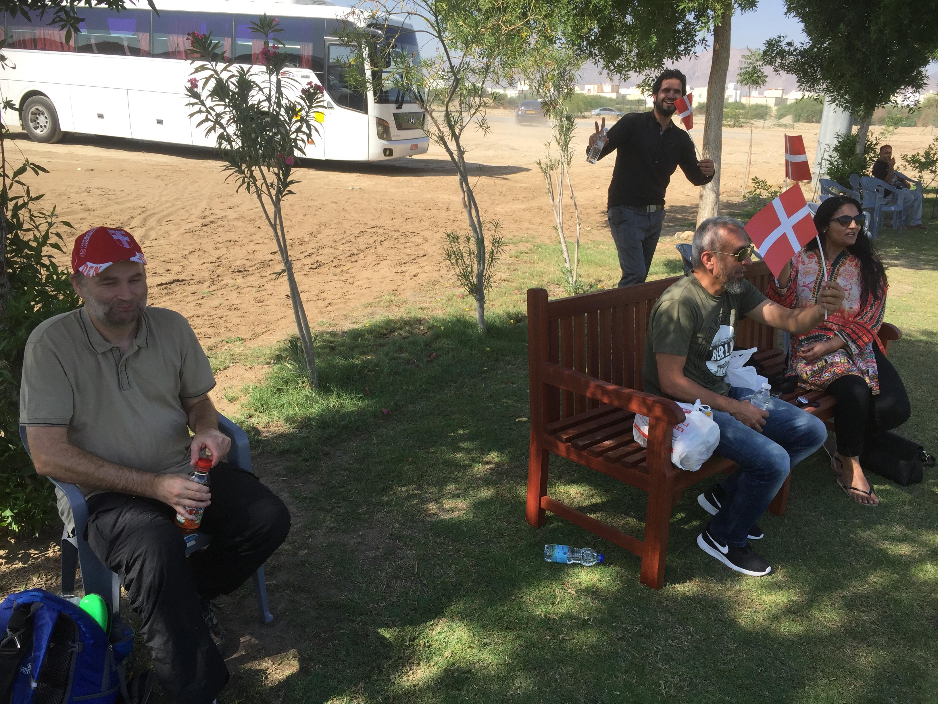 Det danske hold gav Oman en lige kamp 6