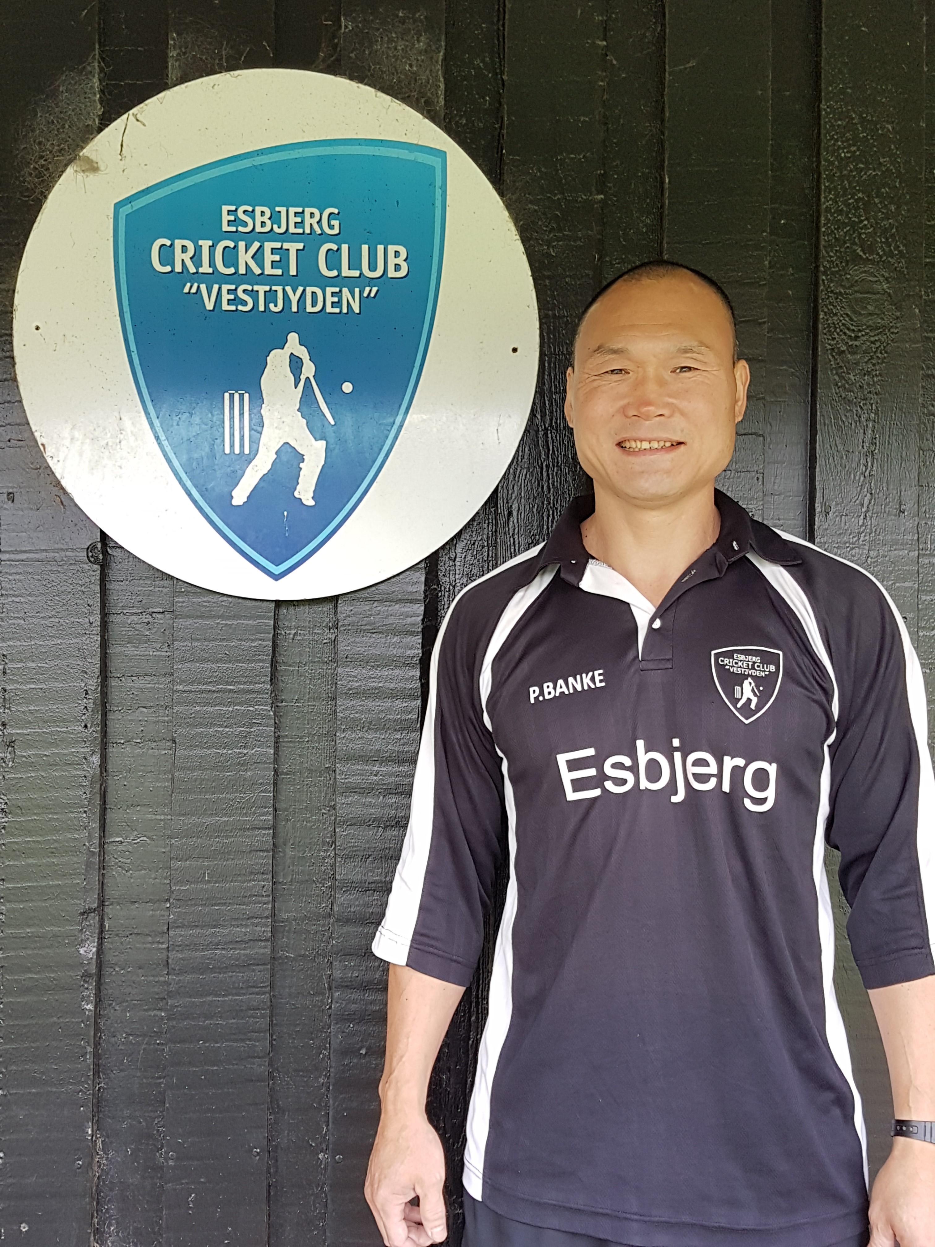 Esbjerg cricketspiller er nu på æres-flise på Blue Water Arena 1