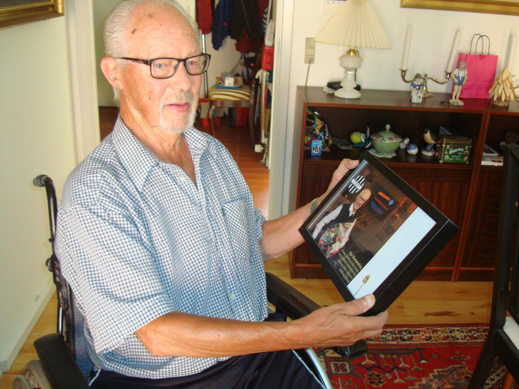Tidligere DCF-kasserer Per Burmester fylder 90 år den 25.juli 1